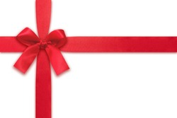 Red Ribbons isolated on white background. It is decoration for gift or card design.