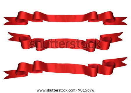 Red ribbons with bank space for text - PHOTOGRAPH