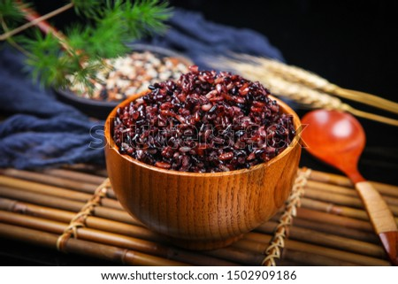 Red rice black rice brown rice three color miscellaneous grains health valley #1502909186
