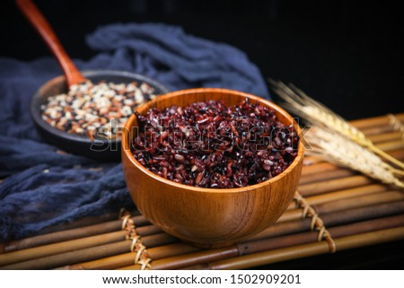 Red rice black rice brown rice three color miscellaneous grains health valley #1502909201