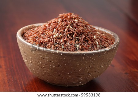 Red rice. Shallow dof