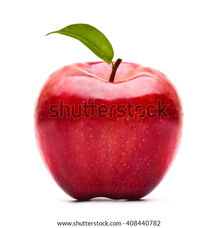 Red ripe apple isolated on white #408440782