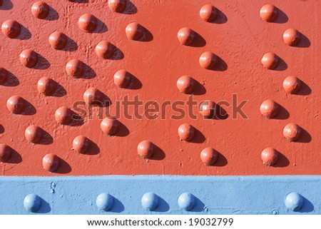 Red Rivets Blue Rivets - Abstract Background