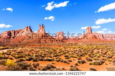 Red rock canyon desert landscape. Red rock canyon desert panorama. Landscape red rock canyon desert view. Scene of red rock canyon desert