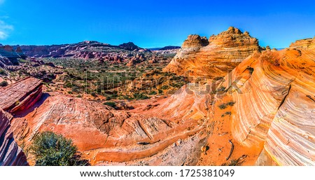 Red rock canyon desert landscape. Red rock canyon view
