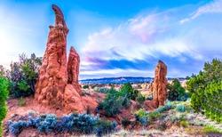 Red rock canyon desert sandstones