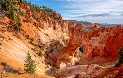 Red rock canyon landscape. Canyon red rocks. Red sand canyon rocks view. Red rock canyon