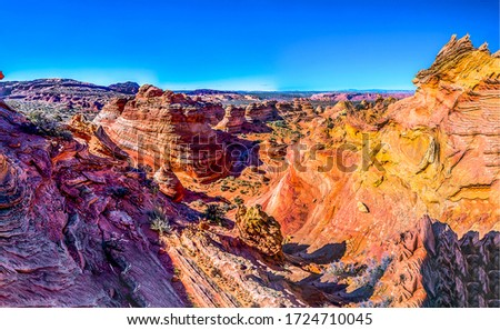 Red rock canyon landscape view