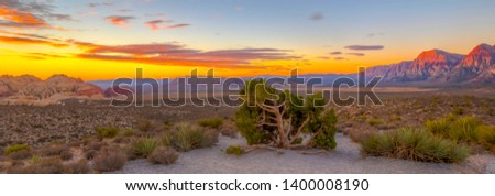 Red Rock Canyon National Conservation Area in Nevada Stock photo ©