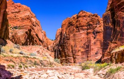 Red rock canyon pass landscape