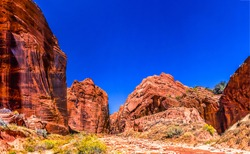 Red rock canyon pass landscape. Pass in red rock canyon. Red rock canyon scene