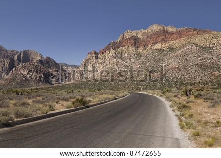 red rock canyon road