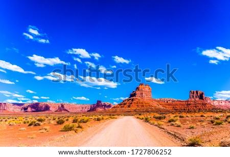 Red rock canyon road landscape