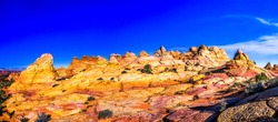 Red rock canyon sandstones panorama