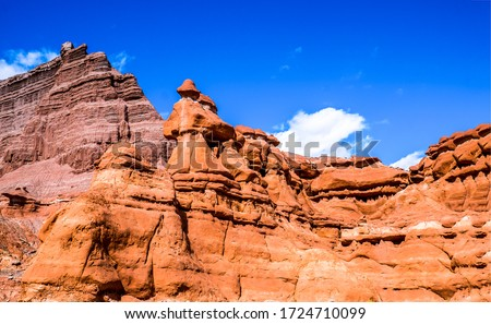 Red rock canyon sandstones view