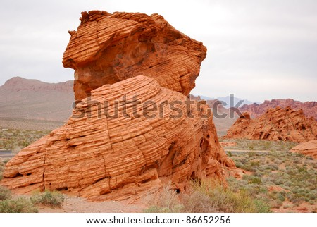 Red rock formation in Valley Of Fire, Nevada