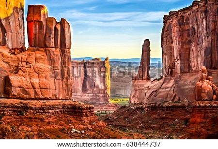 Red rock Grand canyon National conservation area, Nevada Stock photo ©