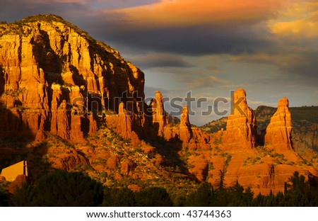 Red rock hills in Sedona