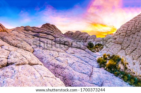 Red rock mountain sunset scene. Sunset red rock mountains. Sunset mountain rock sky clouds background