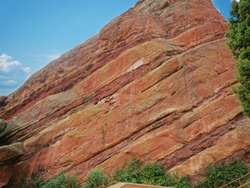 Red rock wall at the Red Rock Canyon in Colorado, USA