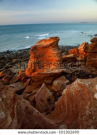 Red Rocks in the sunset light, Broome, Western Australia