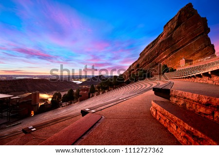 Red Rocks Park at sunrise, near Denver Colorado #1112727362