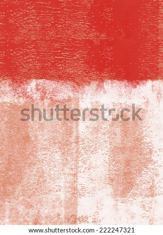 Red rolled paint background