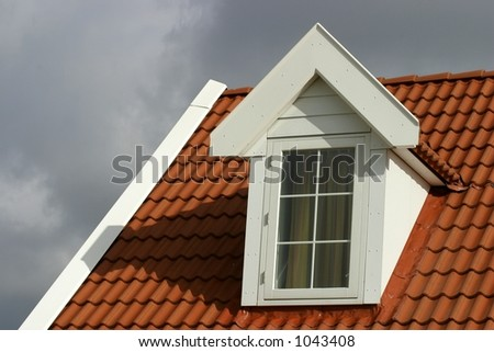 red roof-american style house