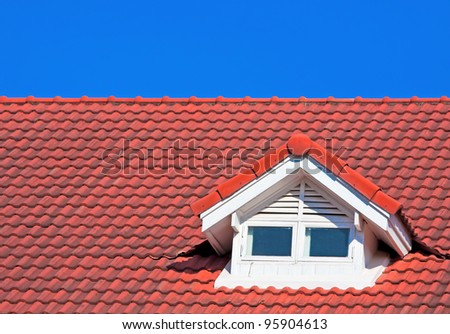 Red Roof on blue sky