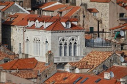Red Roof tiles in Dubrovnik, seen from the City Walls