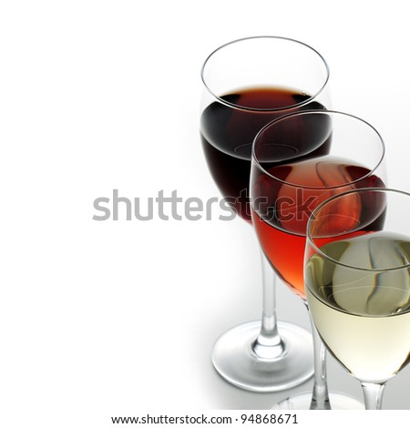 Red rose and white wine