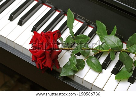 how to play the rose on keyboard
