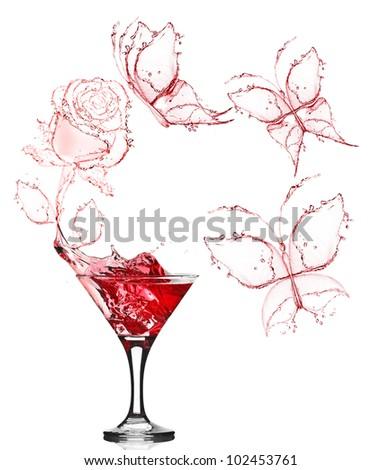 red rose splash from martini