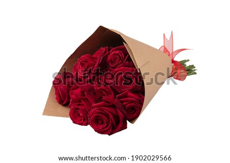 Red roses background. Many red roses, a huge bouquet of roses. Bouquet of red roses on white background.