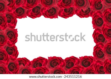 red roses frame background