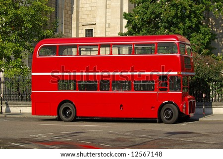 Red Routemaster bus this a restored version some still in regular service on heritage routes