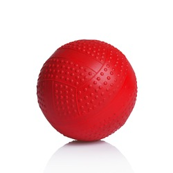 red rubber pimple ball