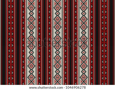 Red Sadu Traditional Bedouin Rug Pattern Background