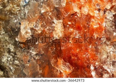 Red salt crystal mineral background