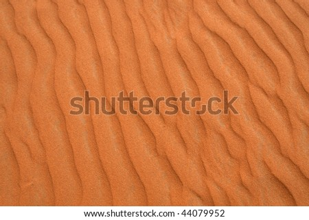 "Red sand ""Arabian desert"" near Riyadh, Saudi Arabia"