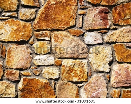 Red sandstone wall