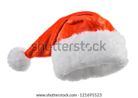 red Santa Claus hats