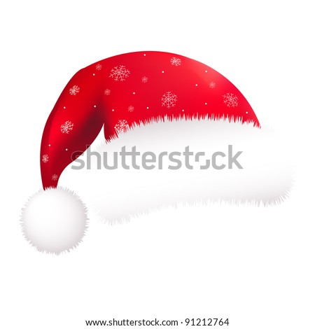 Red Santa Hat, Isolated On White Background