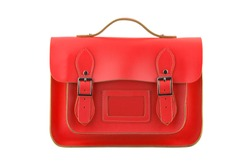 Red Satchel isolated on a white background