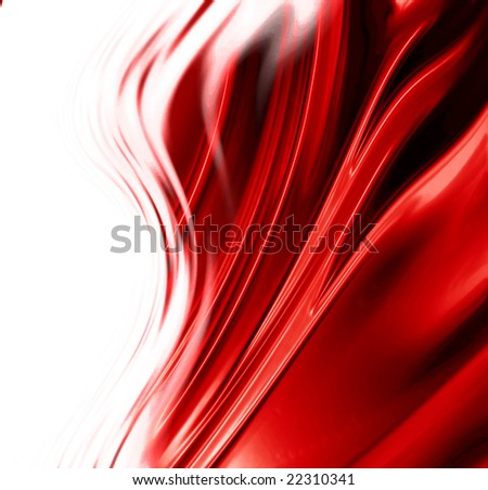 Red satin background with some folds and shades in it