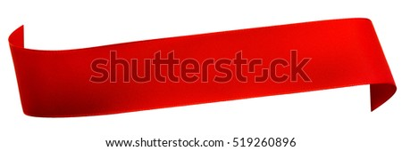 Red satin ribbon isolated on white #519260896