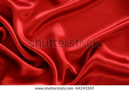 Red satin textile background