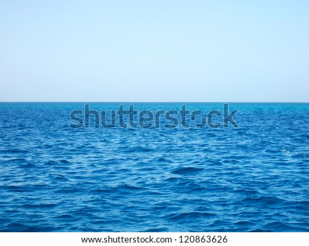 Red sea and blue sky, Egypt #120863626