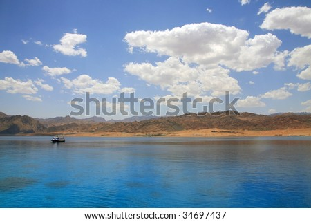 Red Sea, Aqaba gulf, Egypt. Lagoon of Dahab.