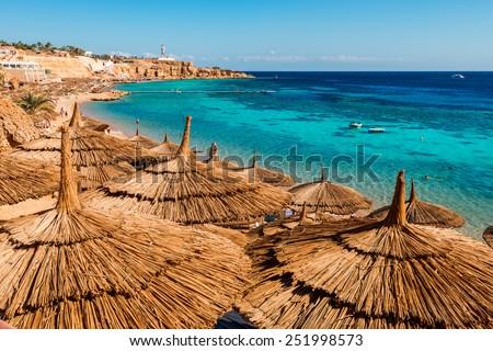 Red Sea coastline  in  Sharm El Sheikh,  Egypt, Sinai #251998573